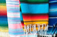 Colorful rugs, Mexico
