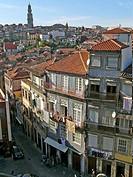 Torre dos Clérigos at the back. Porto. Portugal.