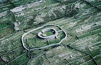 Hillfort Dun Eochla on Inishmore, Aran Islands. Ireland