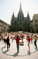Sardanas. Barcelona. Spain
