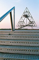 Germany, Bottrop, Ruhr area, North Rhine-Westphalia, tetraeder on a slagheap, pyramid, IBA project in the Emscher region, former mining industry