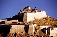 14 century Gyantse fort; now a Anti-British Imperialist Museum inside. Gyantse. Tibet. China