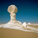 White desert, eroded calcareous formations. Western Egypt