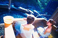 hot spring,travel,Japan,people