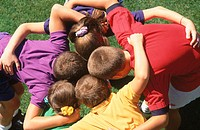 Children huddle