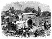 Plate taken from the 'Illustrated London News'. The idea of a train propelled by compressed air was first proposed in 1810 by George Medway, and later...