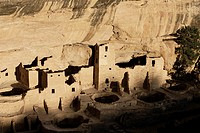 High angle view of ancient buildings in Mesa Verde National Park, Colorado, USA (thumbnail)