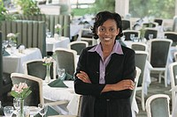 Restaurant owner, portrait