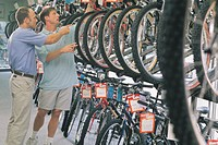 Man shopping for bike