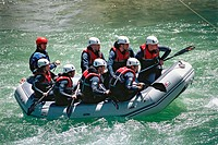 White water rafting. Sort. Lleida province, Spain