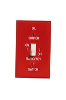 Emergency off switch for oil burner