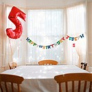 Room decorated for birthday