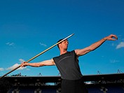 Male javelin thrower