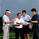 Golfers celebrating