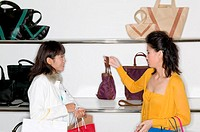 Women shopping for handbag (thumbnail)