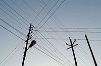 Electricity wires in India