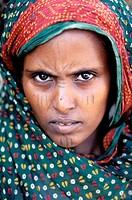 Afar ethnic group woman. Dankalie province. Eritrea