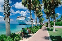 Cruise ships in Oranjestad. Aruba. Dutch Caribbean