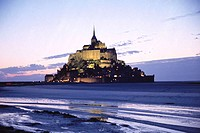 Mont St. Michel at sunset. Normandy, France