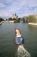 Notre Dame and Seine River. Paris, France