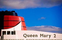 Queen Mary II cruise ship. Port of Quebec, Canada