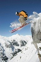 action, Europe, extreme, extreme sport, Free riding, jump, man, , mountains, steep slope, rock, ski, s