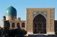 Tilla Kari medressa. Samarkand. Uzbekistan.