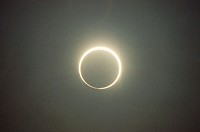 Solar eclipse. Michigan, USA