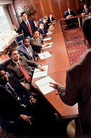 Business executives meeting in a conference room
