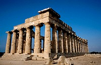 Greek doric temple, ruins of Selinus. Selinunte. Sicily, Italy