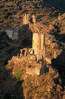 Cathar castles: Lastours, Montagne Noire. Aude, France