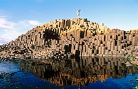 Giant´s Causeway, Ireland´s first World Heritage Site: over 40000 stone columns. Co. Antrim. North Ireland, UK