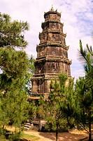 Thien Mu pagoda, near Hue. Vietnam