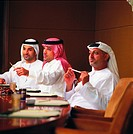 Arab businessmen in conference