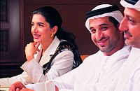 Arab businesspeople during a conference