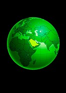 Saudi Arabia on Globe (thumbnail)