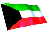 Flag of Kuwait (thumbnail)