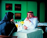 Couple in a restaurant (thumbnail)