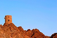 Watchtower in Mutrah, Oman
