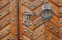 Arabian wooden door
