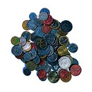 Pile of coins of various currencies