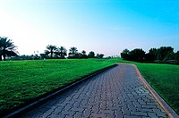 Path on Emirates Golf Course in Dubai, United Arab Emirates