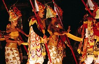 Balinese Ramayana performance in Art Center of Denpasar. Bali island, Indonesia