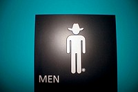 Toilets in a rodeo. San Antonio, Texas. USA