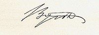 George Gordon, Lord Byron, 1788-1824.Signature. English romantic poet. From the book 'National Portrait Gallery Volume I' published 1830