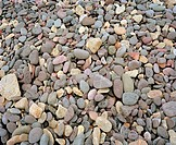 Pebbles on a beach.