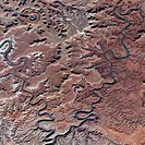 Utah canyons. Satellite image of the Canyonlands National Park, Utah, USA. Image taken by the Indian Remote Sensing (IRS) system of satellites, which ...