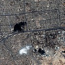Fallujah, Iraq. Satellite image of Fallujah, the capital of the al Anbar provience in Iraq. It is located 69 kilometres west of Baghdad. Following the...