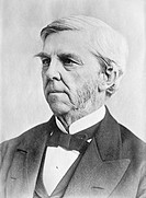 Oliver Wendell Holmes (1809-1894), US physician and poet. Holmes is most famous as a poet, but his medical work includes an 1843 paper on puerperal fe...