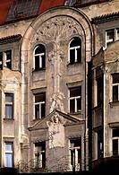 Prag, Hastalská Nr. 4/Jugendstilfassade